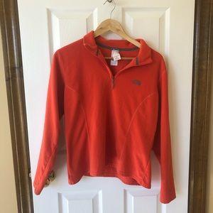 The North Face quarter zip fleece sweater